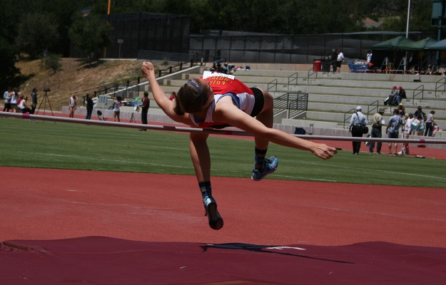Anderson in high jump action (Photo by Kaci Mexico)