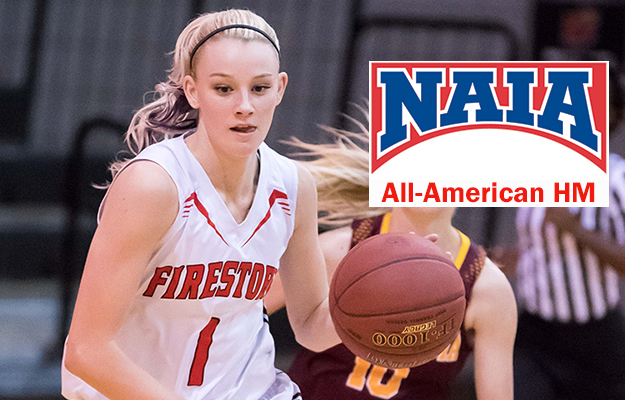 Courtney Christmas- NAIA All-American HM (Photo by Keith Moody)