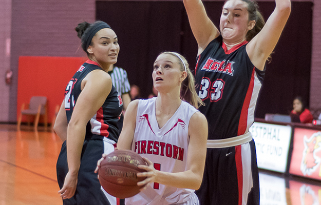 Courtney Christmas went for 23 on Saturday at Biola (Photo by Keith Moody)