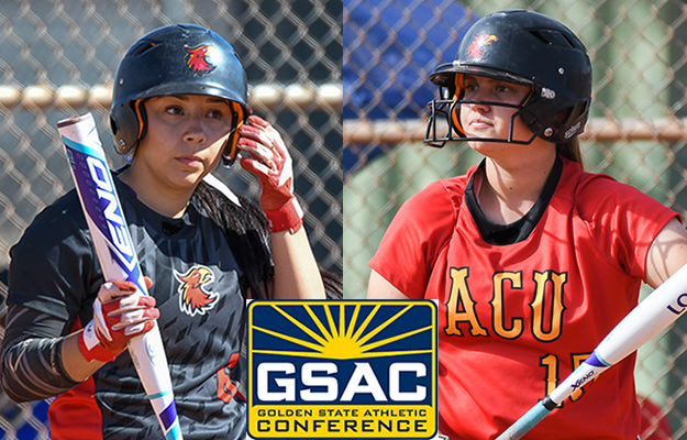 Sianna Gomez (l) and Paige Church were named All-GSAC (Photos by Keith Moody)