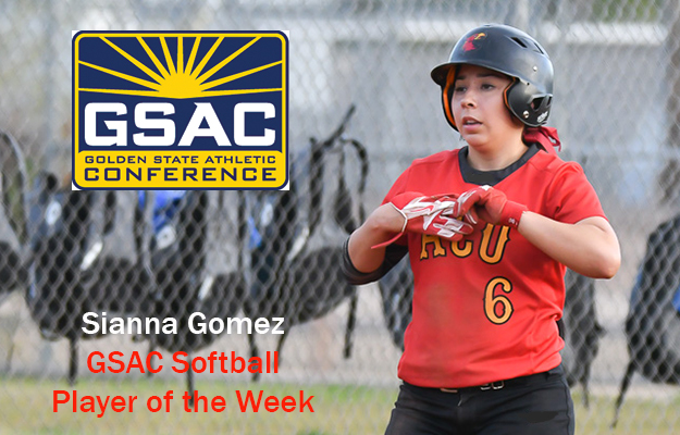 Photo for Gomez Named GSAC Softball Player Of The Week