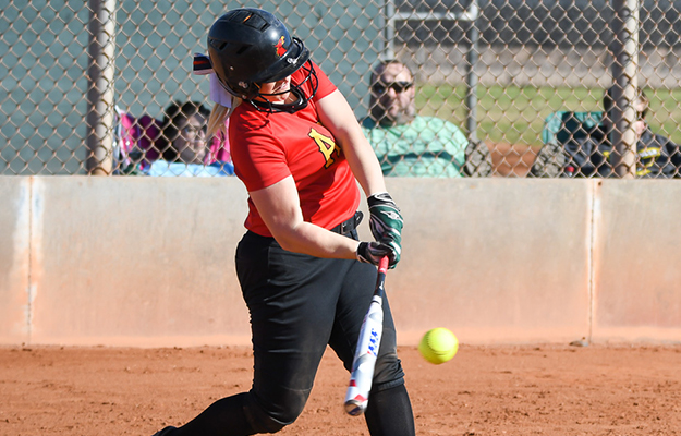 Chelsea Havill notched her fifth homer of the season (Photo by Keith Moody)