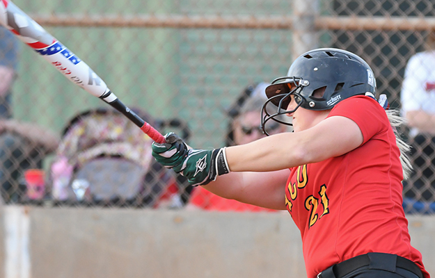 Chelsea Havill hit a three run dinger on Saturday (Photo by Keith Moody)