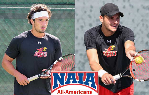 NAIA All-Americans- Lapiedra (l) and Douillac