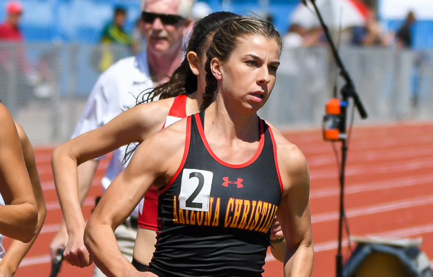 Charlotte Moore placed second in 800m at GSAC Championships for second year in a row.