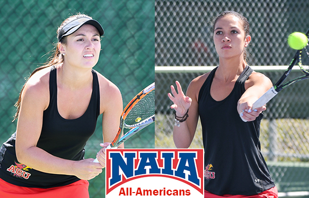 ACU All-Americans: Morgan (l) and Okano