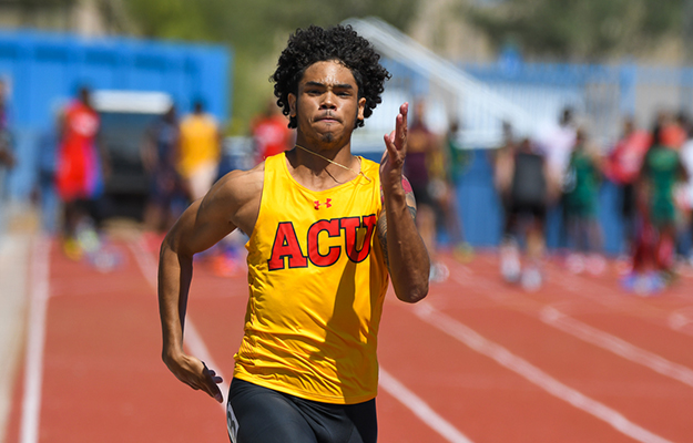 Kendrick Murphy set a new ACU mark in the high jump (Photo by Keith Moody)