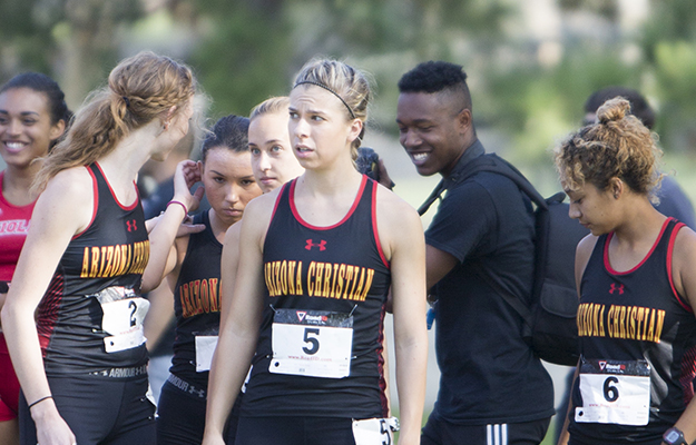 ACU at the start line (Photo courtesy of Biola Sports Info)