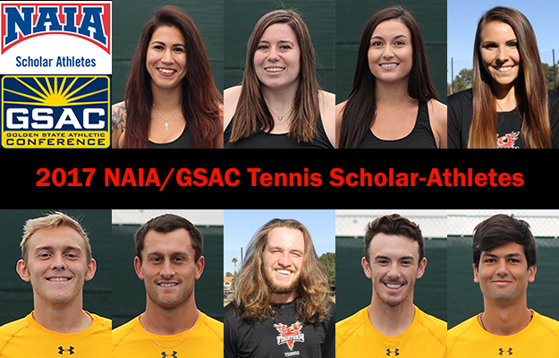 Nine ACU Tennis Scholar-Athletes were tops in the NAIA